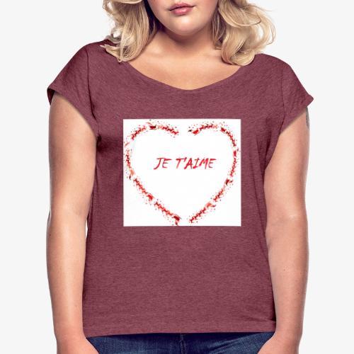 Coeur - T-shirt à manches retroussées Femme