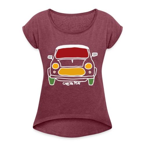 Voiture ancienne anglaise - T-shirt à manches retroussées Femme