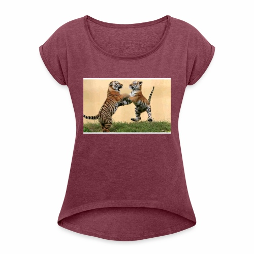 Carloscenturion - Women's T-Shirt with rolled up sleeves