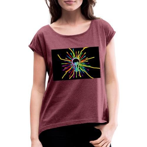Inkedicon 3202620 1920 1 LI - Frauen T-Shirt mit gerollten Ärmeln