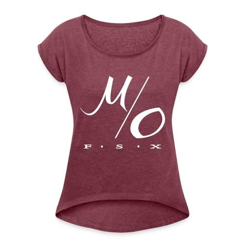 testa3 - T-shirt med upprullade ärmar dam