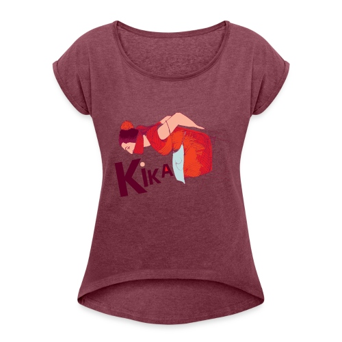 kika-png - Women's T-Shirt with rolled up sleeves