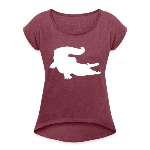 Metal Gear Online - Crocodile Rank - Maglietta da donna con risvolti