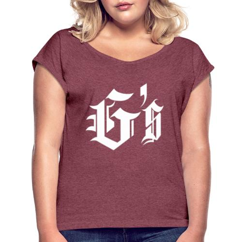 Gymsroka - Camiseta con manga enrollada mujer