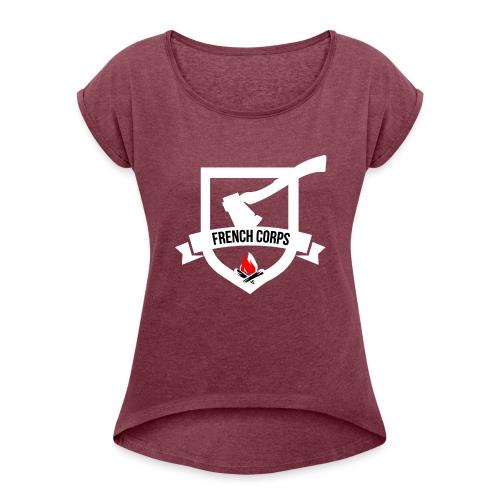 FrenchCorps - T-shirt à manches retroussées Femme