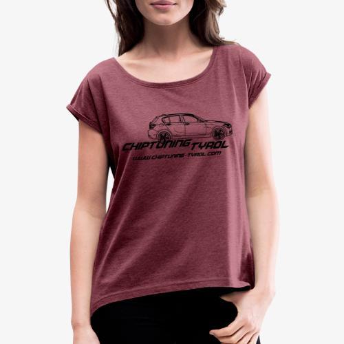 Chiptuning-Tyrol.com Logo B 1x - Frauen T-Shirt mit gerollten Ärmeln