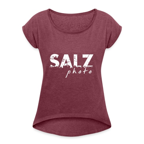 SALZ photo - Camiseta con manga enrollada mujer