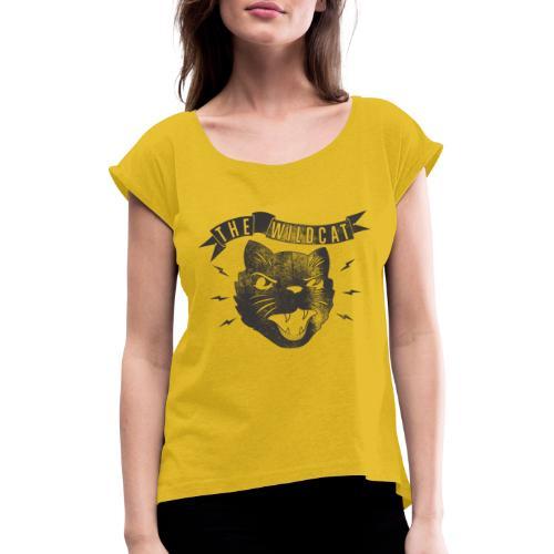 The Wildcat - Frauen T-Shirt mit gerollten Ärmeln