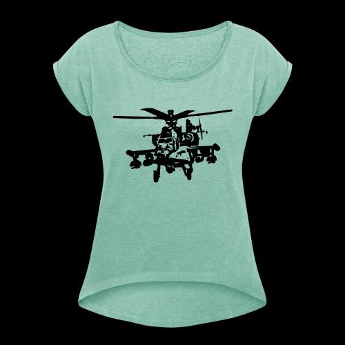apachee - Frauen T-Shirt mit gerollten Ärmeln