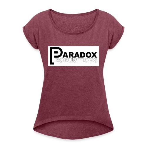 Logo Paradox Prod - T-shirt à manches retroussées Femme
