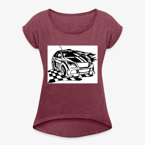 GO GRACE GO!!! - Women's T-Shirt with rolled up sleeves