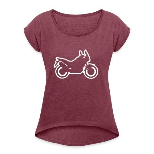 at symbolik weiss - Frauen T-Shirt mit gerollten Ärmeln