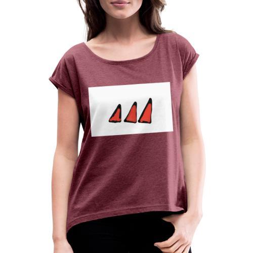 Lalidas - T-shirt med upprullade ärmar dam