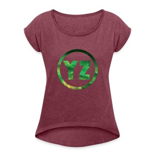 YZ-Mok - Vrouwen T-shirt met opgerolde mouwen