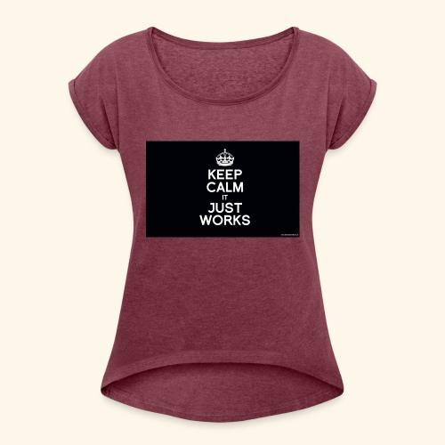KCIJW - T-shirt à manches retroussées Femme