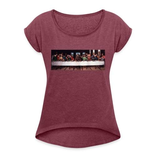 Det närmaste du kan komma till den heliga graalen! - T-shirt med upprullade ärmar dam