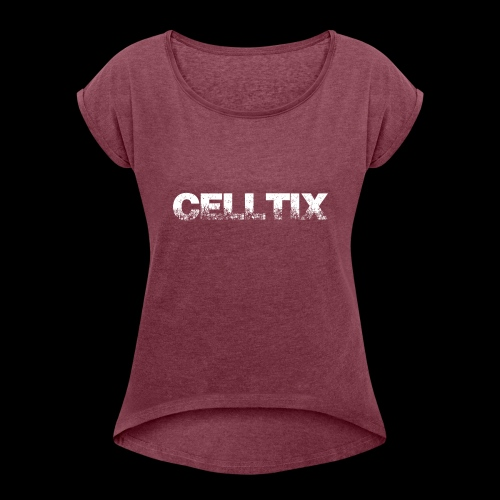 Celltix2- Collection - Frauen T-Shirt mit gerollten Ärmeln