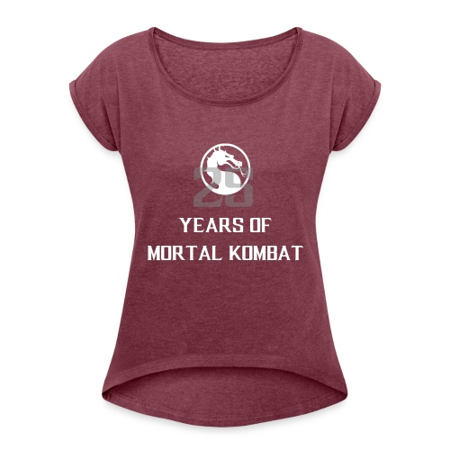 25 Years of Mortal Kombat: Mortal Kombat X ver. 01 - Women's T-Shirt with rolled up sleeves