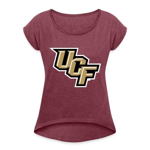 UCF Logo - Frauen T-Shirt mit gerollten Ärmeln