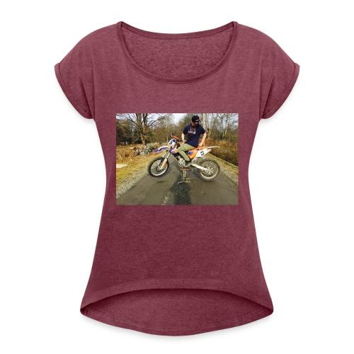 IMG_1942-JPG - T-shirt med upprullade ärmar dam