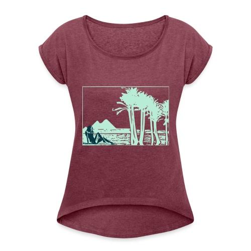Girl nil - T-shirt à manches retroussées Femme