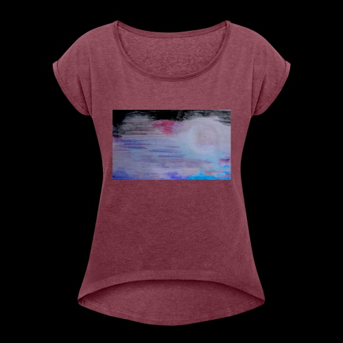 DSC_1593 - T-shirt med upprullade ärmar dam