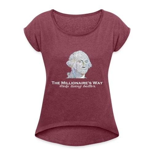 Il nostro logo in bianco - Maglietta da donna con risvolti