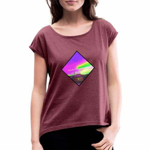 NeonfarbenNuceSKY ValCO - Frauen T-Shirt mit gerollten Ärmeln