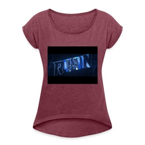 best murch - T-skjorte med rulleermer for kvinner