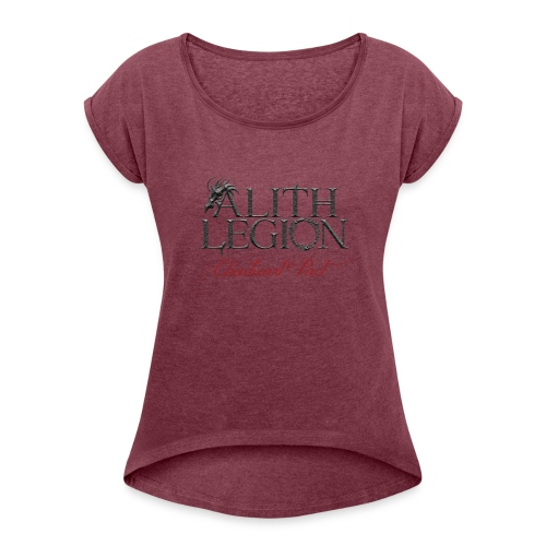 Alith Legion Logo Dragon Ebonheart Pact - Women's T-Shirt with rolled up sleeves