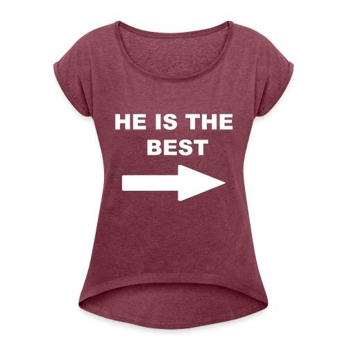 Losing Game - Frauen T-Shirt mit gerollten Ärmeln