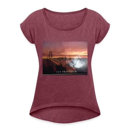 Geillllllloooooo - Frauen T-Shirt mit gerollten Ärmeln