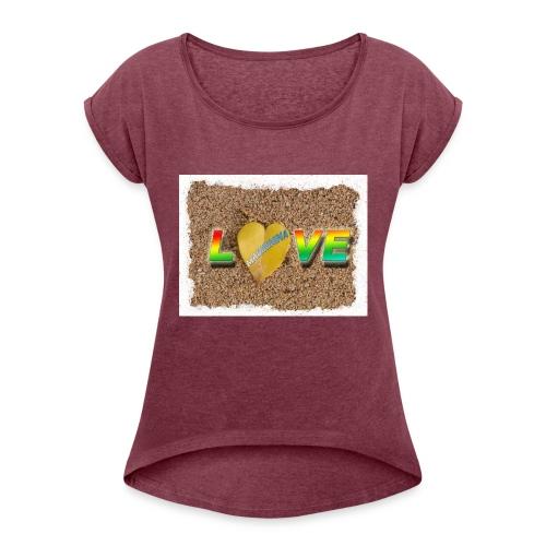 love,madinina - T-shirt à manches retroussées Femme