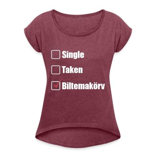 Single Taken ✔Biltemakörv - T-shirt med upprullade ärmar dam
