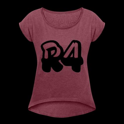 R4KS1NG logo - Maglietta da donna con risvolti