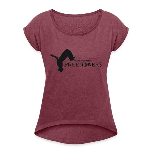 FREERUN - Vrouwen T-shirt met opgerolde mouwen