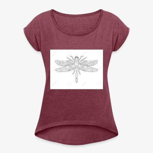 libelula - Camiseta con manga enrollada mujer