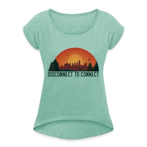 45498074 2173991912817189 4995422624562544640 n - T-shirt à manches retroussées Femme