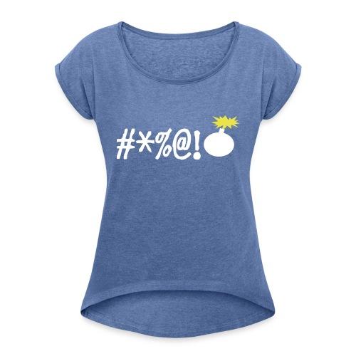 boos - Vrouwen T-shirt met opgerolde mouwen
