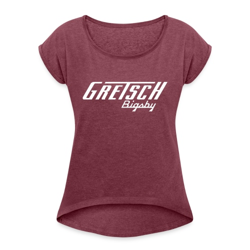 Gretsch Bigsby LogoCombo - Women's T-Shirt with rolled up sleeves