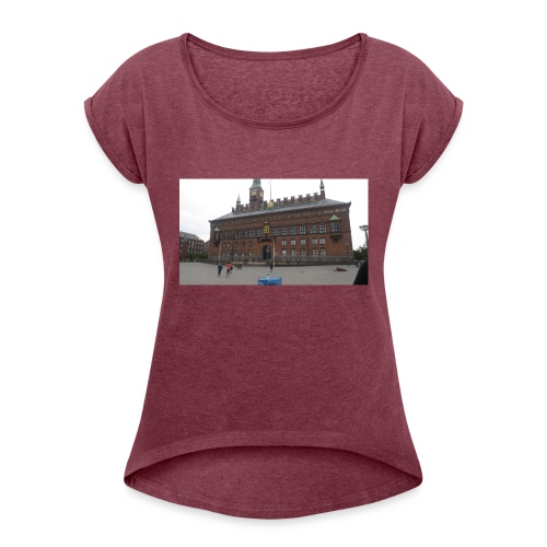 KBH - Dame T-shirt med rulleærmer