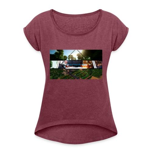 Neues Merch - Frauen T-Shirt mit gerollten Ärmeln