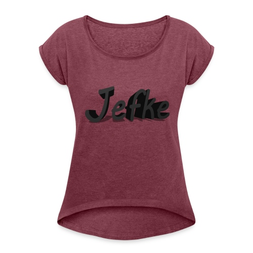Jefke - Women's T-Shirt with rolled up sleeves
