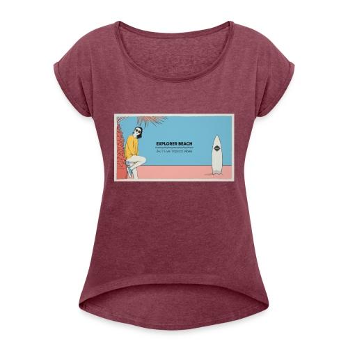 Noise Explorer Beach Test - T-shirt à manches retroussées Femme