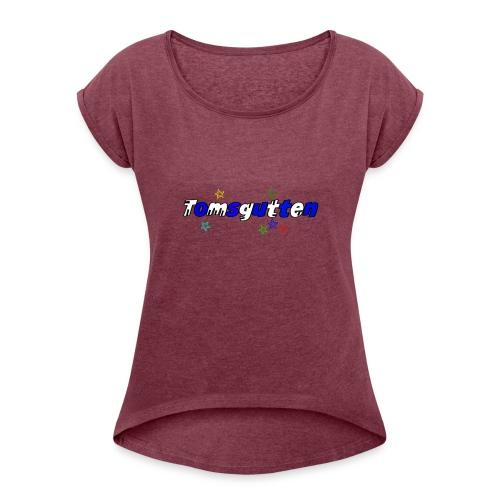 tomsguttens - T-skjorte med rulleermer for kvinner