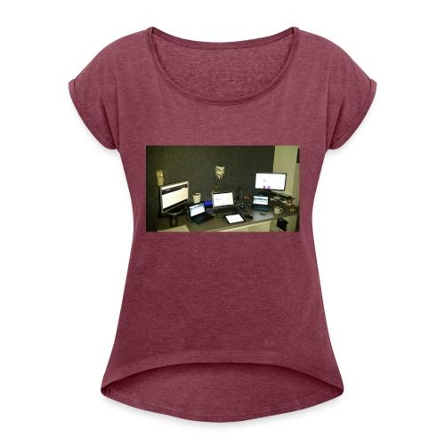 computer - T-shirt à manches retroussées Femme