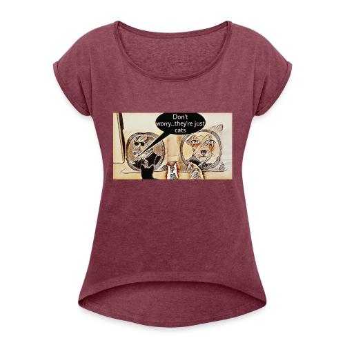 Dogs VS Cats - T-shirt à manches retroussées Femme