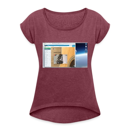 Schermafbeelding 2019 01 08 om 12 08 39 - Vrouwen T-shirt met opgerolde mouwen