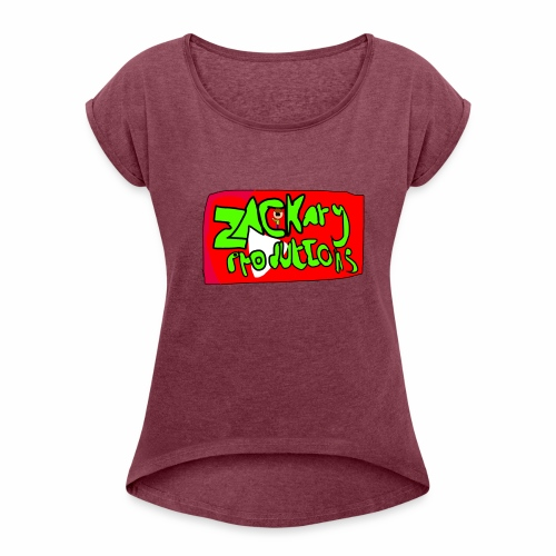 ZackaryProductions Desgin - Women's T-Shirt with rolled up sleeves