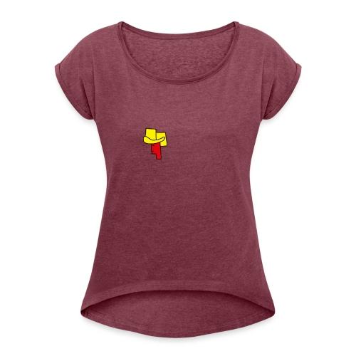 smooth gaming - T-shirt med upprullade ärmar dam